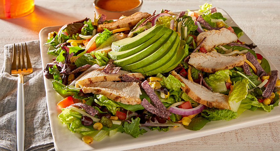 southwest chicken avocado salad
